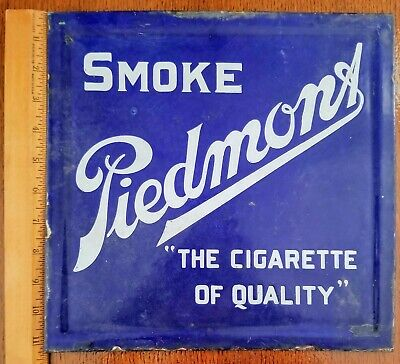 1910-20's Piedmont Tobacco Double-Sided Chair Back Sign