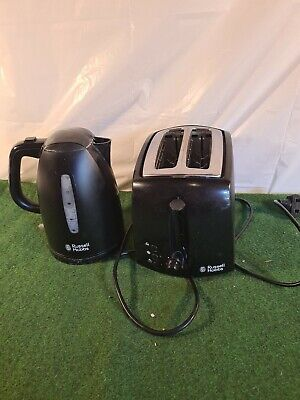 Russel hobbs black kettle and toaster set