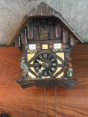 Black-forest German cuckoo clock Makers Mark Tree spares Or repair Not Working