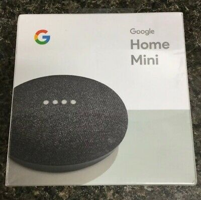 Google Home Mini Smart Assistant - Charcoal (SEALED)