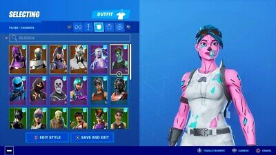 Fortnite acccount Ghoul trooper pink and up to 100 skins!!