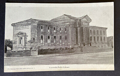 Louisville USA Public Library Postcard c 1920