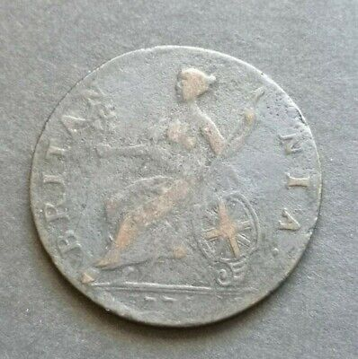 George III Evasion Half penny 1776 Copper Coin *