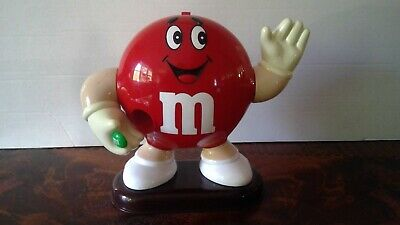 Vintage 1991 Red M&M Candy Dispenser Collectible - 9 inches Tall