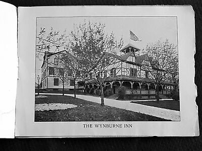 antique WYBURNE INN berwyn pa ADVERTISING BOOKLET w PHOTOGRAPH prices hotel