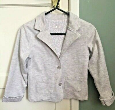 Mothercare Kids Girls Grey Long Sleeve Collared Blazer Button Jacket UK6-7 122cm