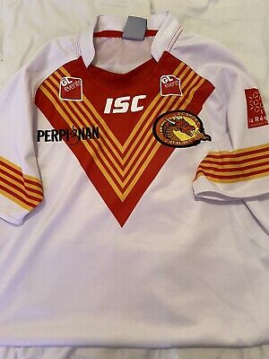 Catalans Dragons Rugby League Shirt *READ*