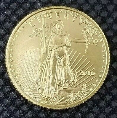 1/10 Oz Gold Coin 2016 Gold American Eagle US