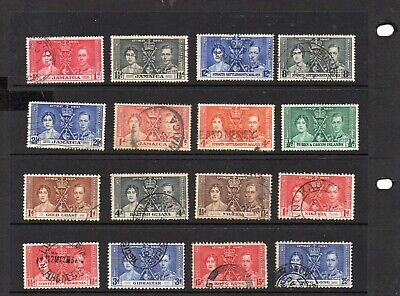 COMMONWEALTH 16no. 1937 Coronation issues, including a set used.