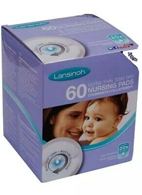 lansinoh ultra thin stay dry nursing breast pads 60 pack new and sealed