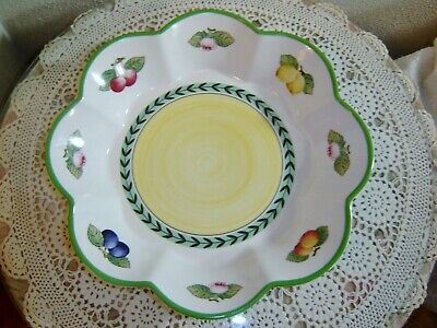 Villeroy & Boch French Garden Fleurence 12.5 inch Scalloped Serving Bowl