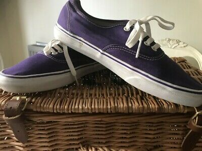 Vans Off The Wall Men's Blueish Purple Laced Pumps Used Size 10
