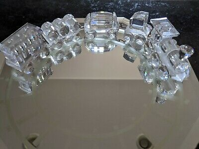 Swarovski Crystal Train 5 pieces plus display mirror - no reserve!