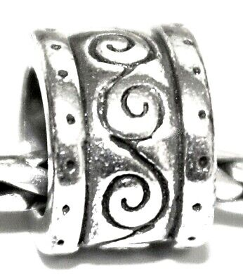 Brighton Etched Spacer/Charm for Necklace or Bracelet - Silver Swirl Design!!