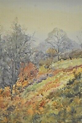 Antique 19th/Early 20th Century Watercolour By Kenneth Gregory Of A Landscape