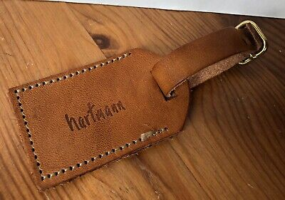 Vintage Hartmann Luggage Belting Leather ID Address Hang Tag (A)