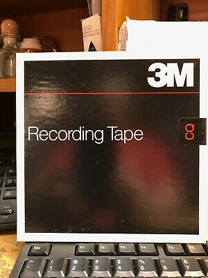 "Scotch 3M 7.5"" 1/4 ""  Mastering Tape &  Plastic Reel With Box"