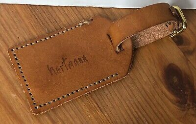 Vintage Hartmann Luggage Belting Leather ID Address Hang Tag (B)