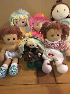 Joblot Bundle Of Mixed Brand Soft Bodied Rag Doll Baby Dolls Toys Bundle Two