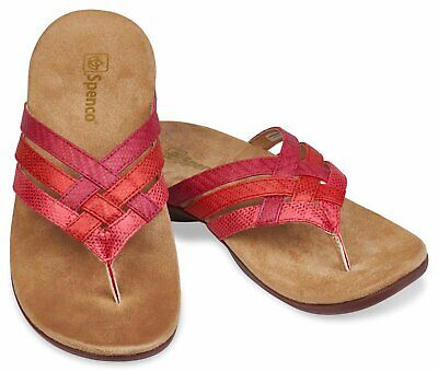 Spenco Total Support Sandal Yumi Triple Strap Red Rose Women Size 9