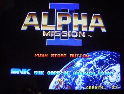 Alpha Mission Ii   Mvs Snk  Cartridge  For Neo Geo  Arcade  Game
