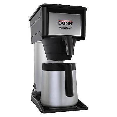 BUNN BT Commercial Style Stainless steel Coffee Brewer 10 Cup Coffee Black