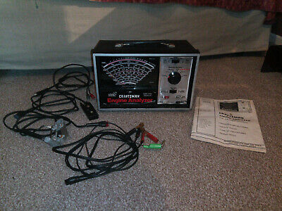 Sears Craftsman Professional Quality Engine Analyser, Manual & Probes - Working