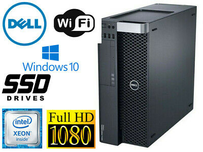 Dell T3600 Workstation Xeon 8 cores E5-2689 2.6ghz 32GB 128GB SSD+1TB WIN10 wifi