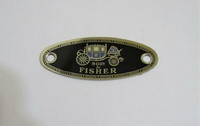 vintage Body by Fisher metal emblem placard sign automobile car auto collectible