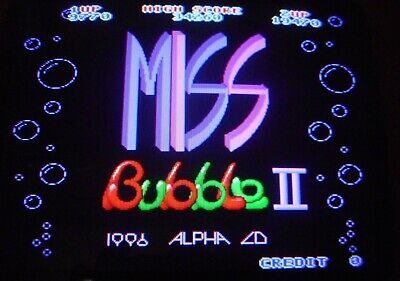 MISS BUBBLE II NUDE  by ALPHA  CO  JAMMA ARCADE PCB GAME