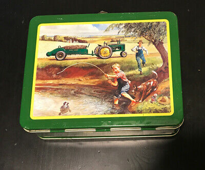 John Deere Retro Metal Lunch Box -Turtle Trouble - First In A Series