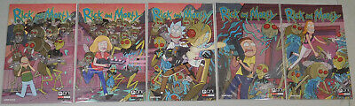 Rick and Morty #1 to #5 50th Issue Celebration Connecting Cover comic set ONI