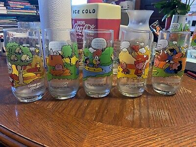 McDonald's Charlie Brown Peanuts Camp Snoopy Glasses 5