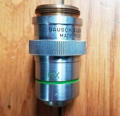 Bausch and Lomb  10x Plan Achromatic Objective Lens