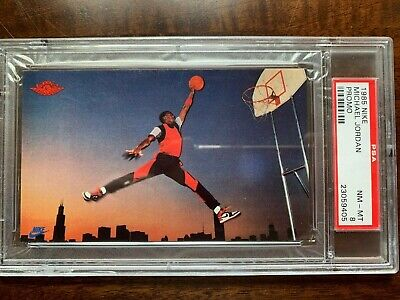 "1985 Nike Michael Jordan Promo PSA 8 GOAT ""The Last Dance"" Chicago Bulls"