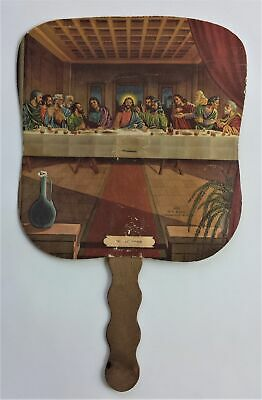 vintage HAND FAN catasaugua allentown pa OLIVER S. BURKHOLDER FUNERAL HOMES