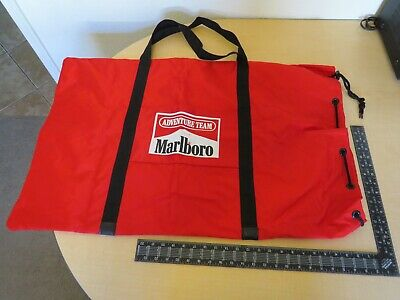 New Rare Vintage Collectable Marlboro Advertising Adventure Team Tote Duffle Bag