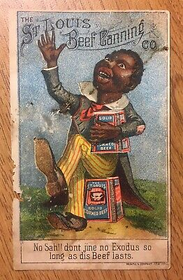 St. Louis Beef Canning Co. Racist Black Trade Card
