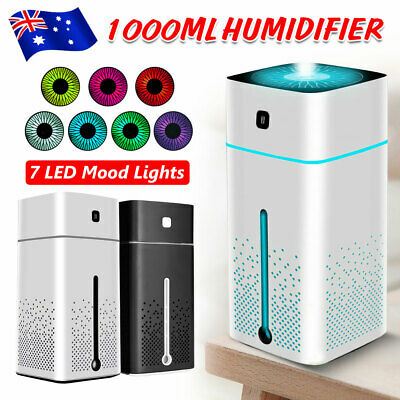 1L Ultrasonic Aromatherapy Diffuser Oil Air Humidifier Essential Purifier USB OZ