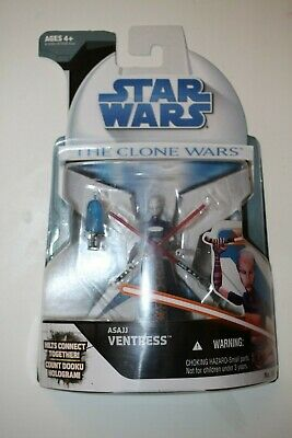 Star Wars The Clone Wars Asajj Ventress CW 15 Action Figure Legacy Era Package