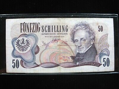 Austria 50 Schilling 1970 86# Banknote Paper Money Currency