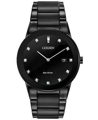 Citizen Eco-Drive Axiom Diamond Black Stainless Steel Men's Watch AU1065-58G