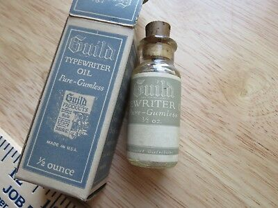 Vintage Guild Typewriter Oil made in USA