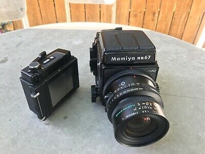 [Near Mint] MAMIYA RB67 PRO SD w/ 90mm f3.5 K/L  Lens + 2 6x7 Film Backs