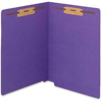Smead WaterShed®CutLess® End Tab Fstnr Folder Purple 50/BX Ltr (25550)