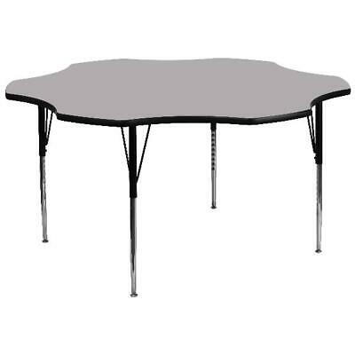 Flash Furniture 60'' Flower Shaped Activity Table with Grey Thermal Fused Lamina