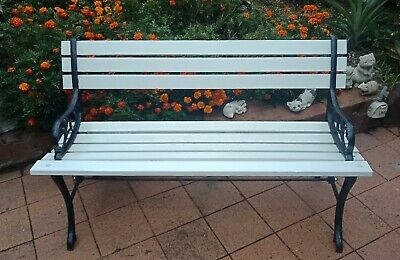 Cast Iron and Timber Garden Bench restored