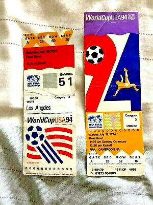 FIFA World Cup 1994 Final (Brazil vs. Italy) Ticket Stub