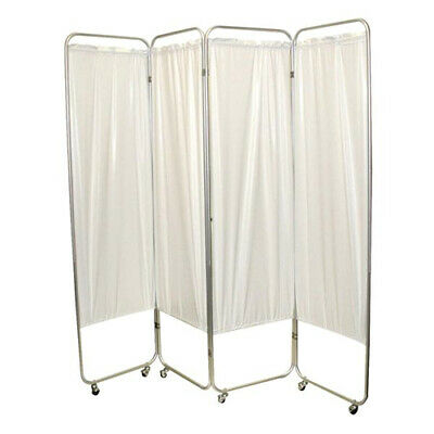 Four Panel Privacy Screen With Wheels