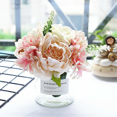 Artificial Flowers Rose Peony Flowers Bunch Holding Flowers Wedding Home Decor